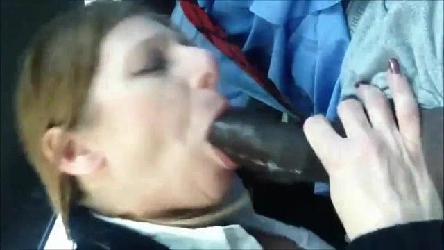 Hottest interracial orall-service - milf sucks on a bbc and swallows his cum load