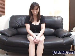 Japanese milf acquires fur pie and booty teased