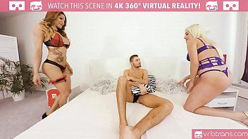 Ts vr porn-my 1st anal ts 3some