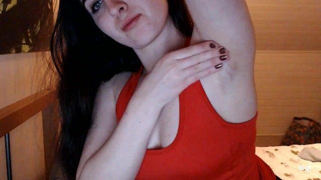 Pale beauty with consummate stubbly armpits