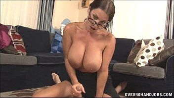 Hawt milf with large titties cook jerking