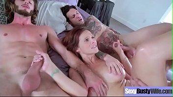 Syren de mer casalinga tettona sessualmente eccitata acquisisce gangbanged su sex tape movie-24