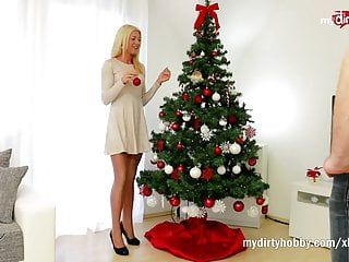Mydirtyhobby - super slim golden-haired receives her christmas wants
