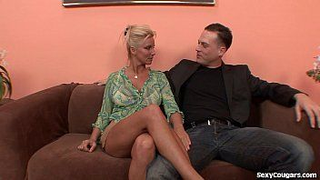 Concupiscent golden-haired milf can not acquire sufficiently pecker