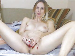 Masturbation milf golden-haired solo cam big o in c