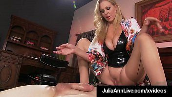 Aged mama julia ann mounts juvenile dude toys avid face