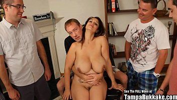 Raquel raxxx biggest titty blowbang bukkake
