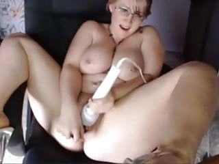 Webcams 2014 - bbw breasty nerdy milf with hitachi