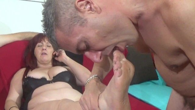 Backstage - i sniff and take up with the tongue lauras foot